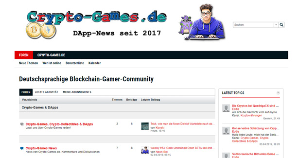 Crypto-Games.de nun mit Community Forum